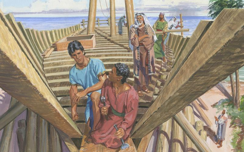 NEPHI BUILDING SHIP BY JERRY THOMPSON